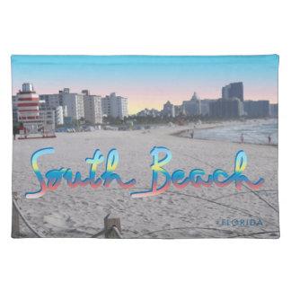 South Beach, FL City View Placemat