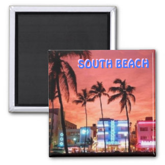 SOUTH Beach, Florida 2 Inch Square Magnet