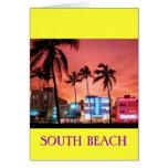 SOUTH Beach, Florida Greeting Card