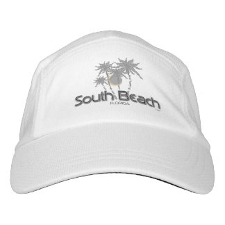 South Beach, Florida Palms Cool Adjustable Hat