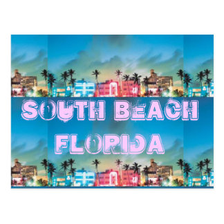 SOUTH BEACH, Florida Postcard