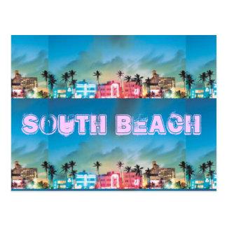 SOUTH BEACH, Florida Postcard