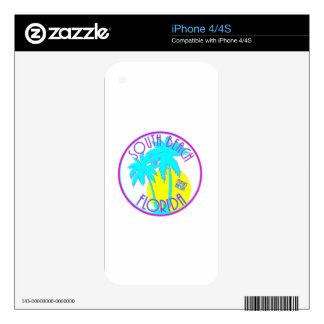South Beach Florida Skin For iPhone 4S