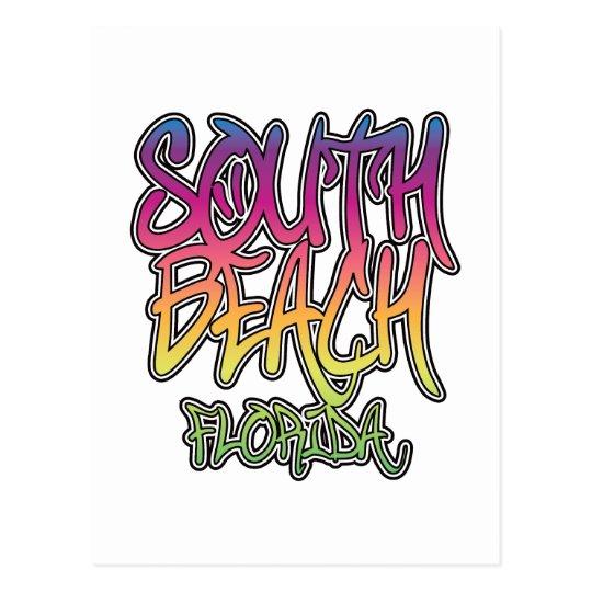 South Beach Graffiti Postcard