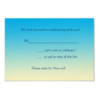 "South Beach Invitation Response Card 3.5"" X 5"" Invitation Card"