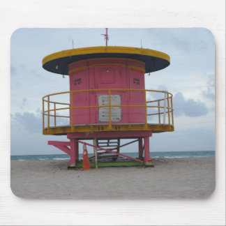 South Beach Life Guard Stand Mouse Pad