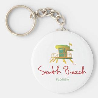 South Beach Lifeguard Station Keychain