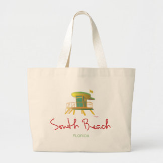 South Beach Lifeguard Station Large Tote Bag