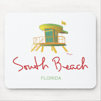 South Beach Lifeguard Station Mouse Pad