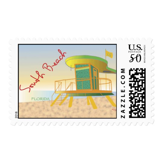 South Beach Lifeguard Station Postage
