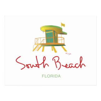 South Beach Lifeguard Station Postcard