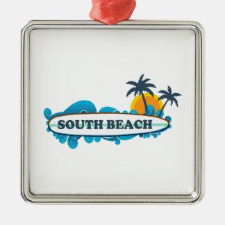 South Beach. Metal Ornament