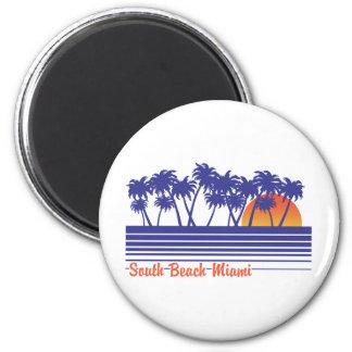 South Beach Miami 2 Inch Round Magnet