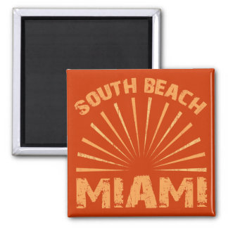 SOUTH BEACH MIAMI 2 INCH SQUARE MAGNET