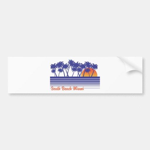 South Beach Miami Bumper Stickers