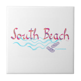 South Beach Miami Flip Flops Ceramic Tile