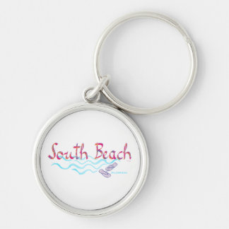 South Beach Miami Flip Flops Keychain