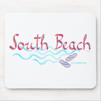 South Beach Miami Flip Flops Mouse Pad