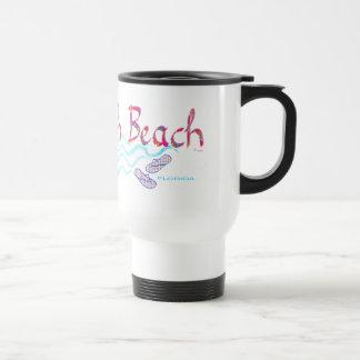 South Beach Miami Flip Flops Travel Mug