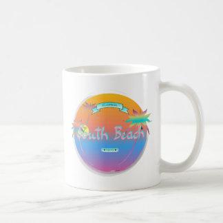 South Beach, Miami, Florida with Palms Coffee Mug