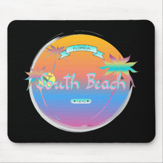 South Beach, Miami, Florida with Palms Mouse Pad