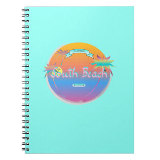South Beach, Miami, Florida with Palms Notebook
