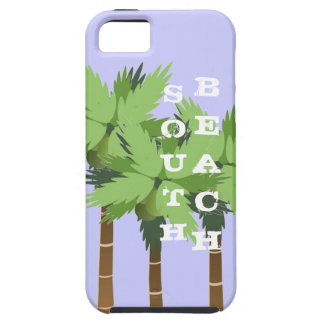 South Beach Miami Florida with Tropical Palm Trees iPhone SE/5/5s Case