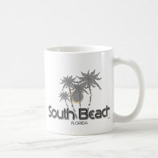 South Beach Miami Grey Palms Coffee Mug