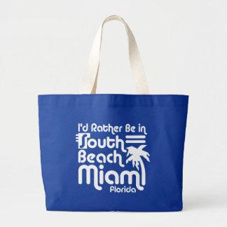 South Beach Miami Large Tote Bag