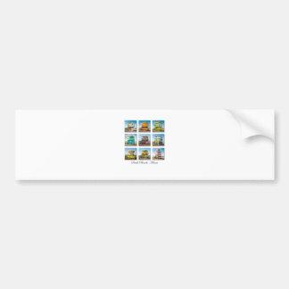 South Beach, Miami Life Guard Shacks Bumper Sticker