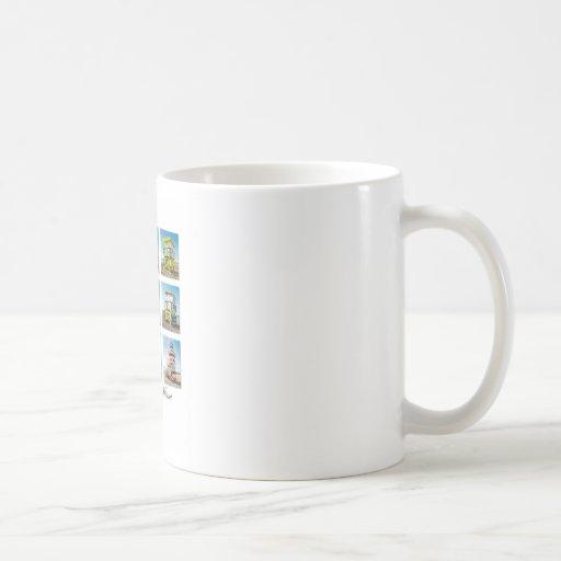 South Beach, Miami Life Guard Shacks Classic White Coffee Mug