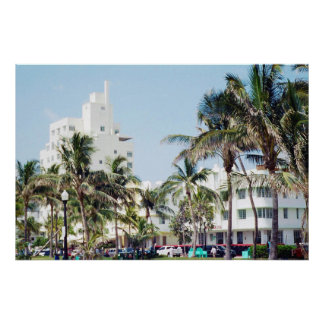 South Beach Miami, Ocean Drive Poster