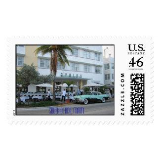 South Beach Miami Postage Stamp