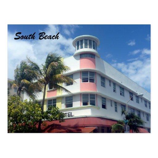 south beach miami postcards