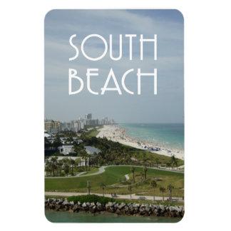 South Beach Miami skyline photo Rectangular Photo Magnet