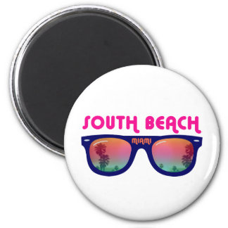 South Beach Miami sunglasses 2 Inch Round Magnet