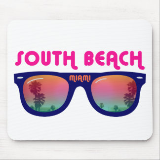 South Beach Miami sunglasses Mouse Pads