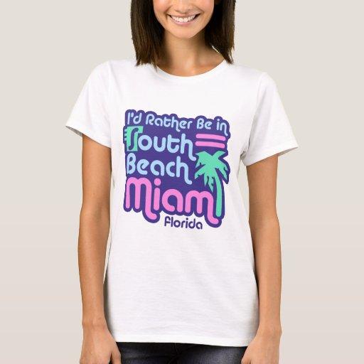 South beach miami t shirt zazzle for T shirt printing in miami
