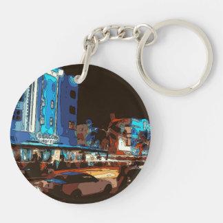 South Beach Nightclub, Miami Souls Double-Sided Round Acrylic Keychain