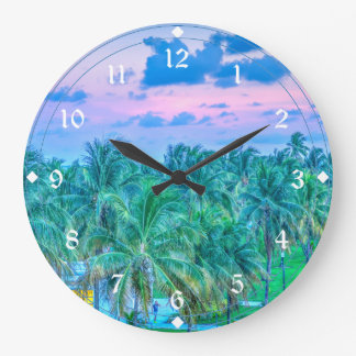 South Beach Photography Large Clock