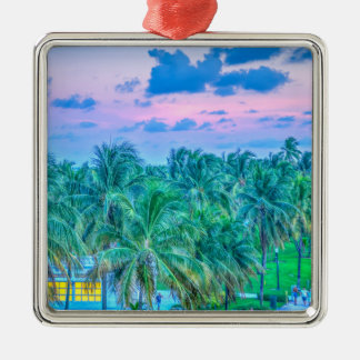 South Beach Photography Metal Ornament