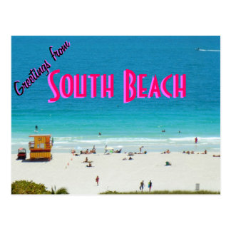 ~South Beach~ POSTCARD