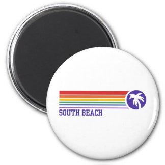 South Beach Refrigerator Magnet