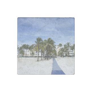 South Beach Stone Magnet