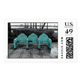 South Beach Three Chairs Postage
