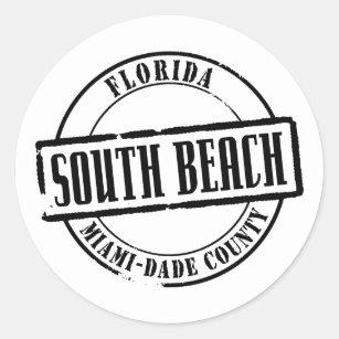 miami dade stickers zazzle Miami Beach Police Academy south beach title classic round sticker