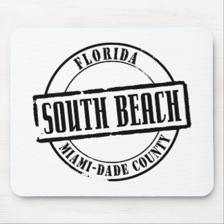 South Beach Title Mouse Pad