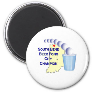 South Bend Beer Pong Champion 2 Inch Round Magnet