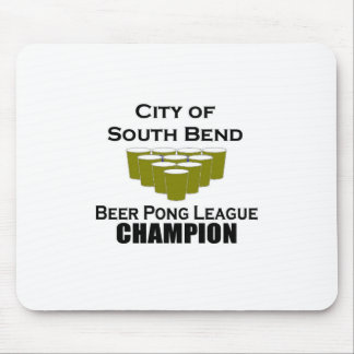 South Bend Beer Pong Champion Mousepads