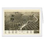 South Bend, EN el mapa panorámico - 1890 Tarjeta De Felicitación